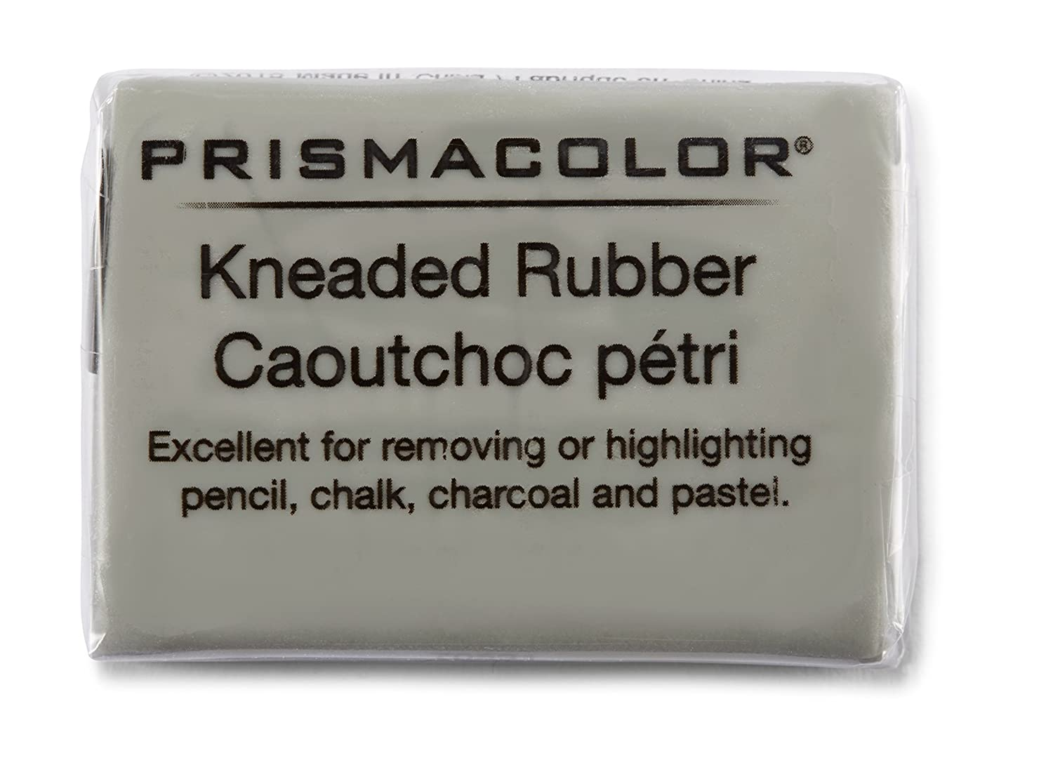 PRISMACOLOR DESIGN Eraser, 1224 Kneaded Rubber Eraser Large, 12 Pack, Grey (70531) Newell Rubbermaid Office