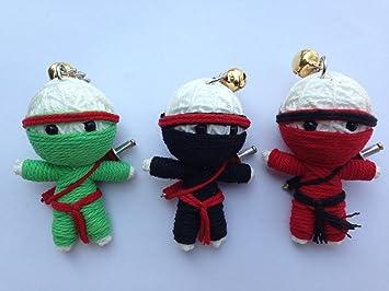 Amazon.com: Triple Ninja 3 x Voodoo Cadena Llavero con ...