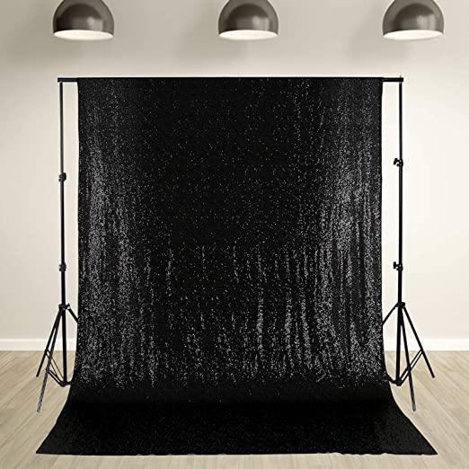 PartyDelight Sequin Backdrop 4FTX6.5Ft Teal for Wedding Curtain Photo Booth. Party