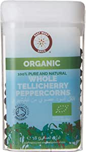 EAST WEST SPICE/ORGANIC 18g WHOLE TELLICHERRY PEPPERCORNS