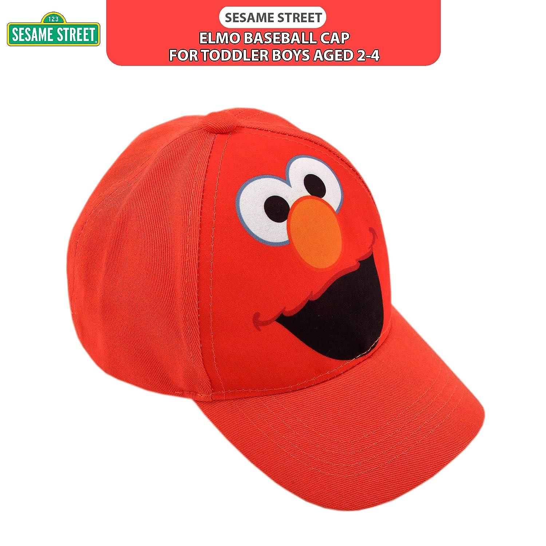 22c5eb5a Sesame Street Toddler Boys' Elmo Cotton Baseball Cap, Light Red, Age 2-4