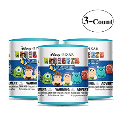 Disney Pixar Mash'Ems (choices may vary) Blind Pack Capsule - 3 Pack (3 Mashems Capsules per order) - Toy Story - Finding Nemo - Monsters inc mini Action Figures: Toys & Games