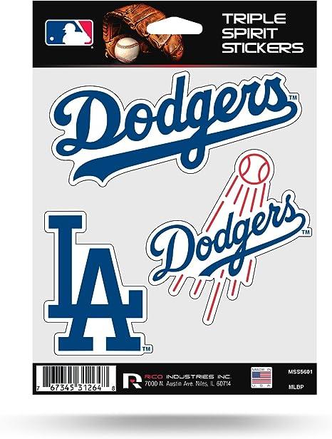 Rico Industries Los Angeles Dodgers Triple Sticker Multi Sticker Spirit Table Car Home Baseball Küche Haushalt