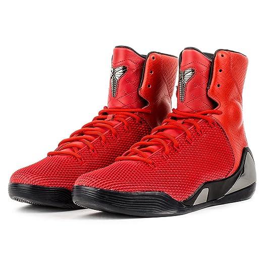 Nike Men\u0027s Kobe IX High Krm Ext Qs Challenge Red/Challenge Red Basketball  Shoe 9
