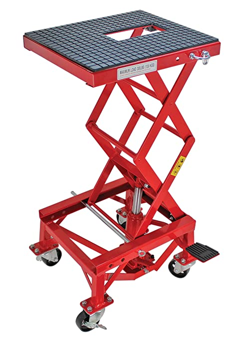 Extreme Max 5001 5083 Hydraulic Motorcycle Lift Table – 300 lb
