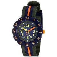 Kids' Camping Quartz Polyester Strap, Green, 16 Casual Watch (Model: ZFPSP021)