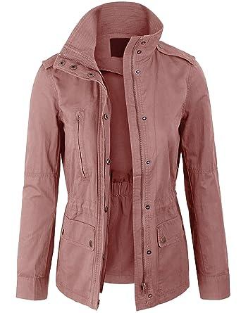 29f7438575f KOGMO Womens Military Anorak Safari Jacket Pockets at Amazon Women s ...
