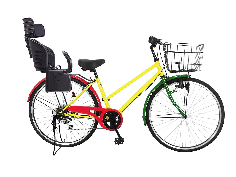 Lupinusルピナス 自転車 26インチ LP-266TD-KNRJ-BK シティサイクル シマノ製外装6段ギア 樹脂製後子乗せブラック B0797PGTSPラスタカラー
