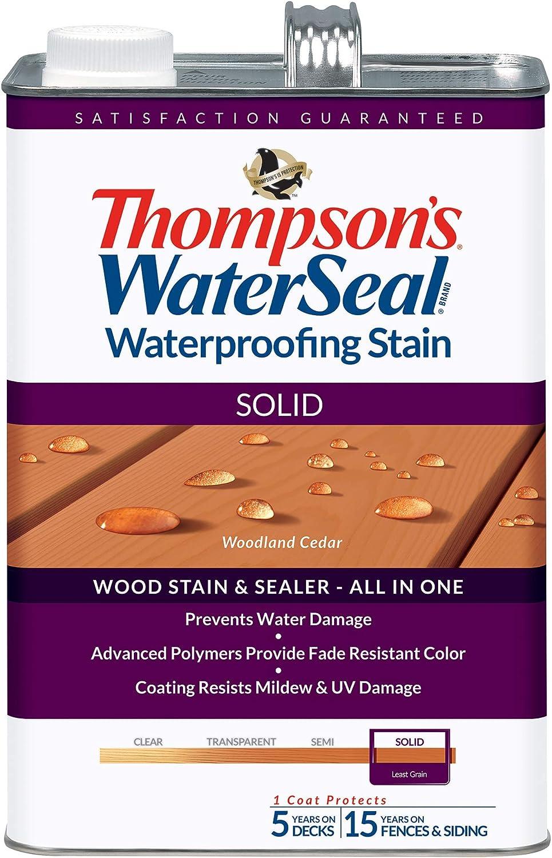 THOMPSONS WATERSEAL TH.043851-16 Solid Waterproofing Stain, Woodland Cedar