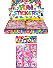 HENBRANDT 12 X Unicorn Sticker Sheets Kids Girls Party Bags Fillers Pinata Decoration Art & Craft Toys
