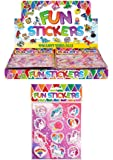 12 x Licorne feuilles d'AUTOCOLLANTS ENFANTS FILLES Sac de soirée remplisseurs Pinata décoration art et artisanat jouets