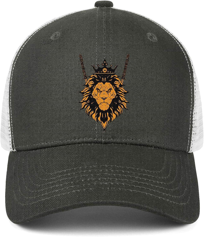 Wild King Big Tiger Face Unisex Baseball Cap Summer Sport Hats Adjustable Trucker Caps Dad-Hat