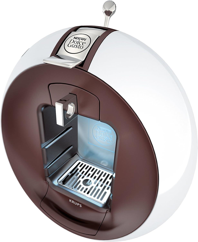 Krups Dolce Gusto Circolo - Máquina de café (Manual, 15 bar, 1.3 L, con bandeja, 1500 W), color blanco/chocolate: Amazon.es: Hogar