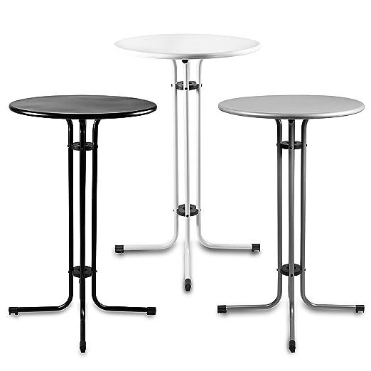 Estexo® - Mesa alta de metal de 70 cm de diámetro, mesa para ...