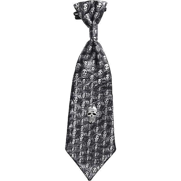 WIDMANN - Corbata calaveras metalizada: Amazon.es: Juguetes y juegos
