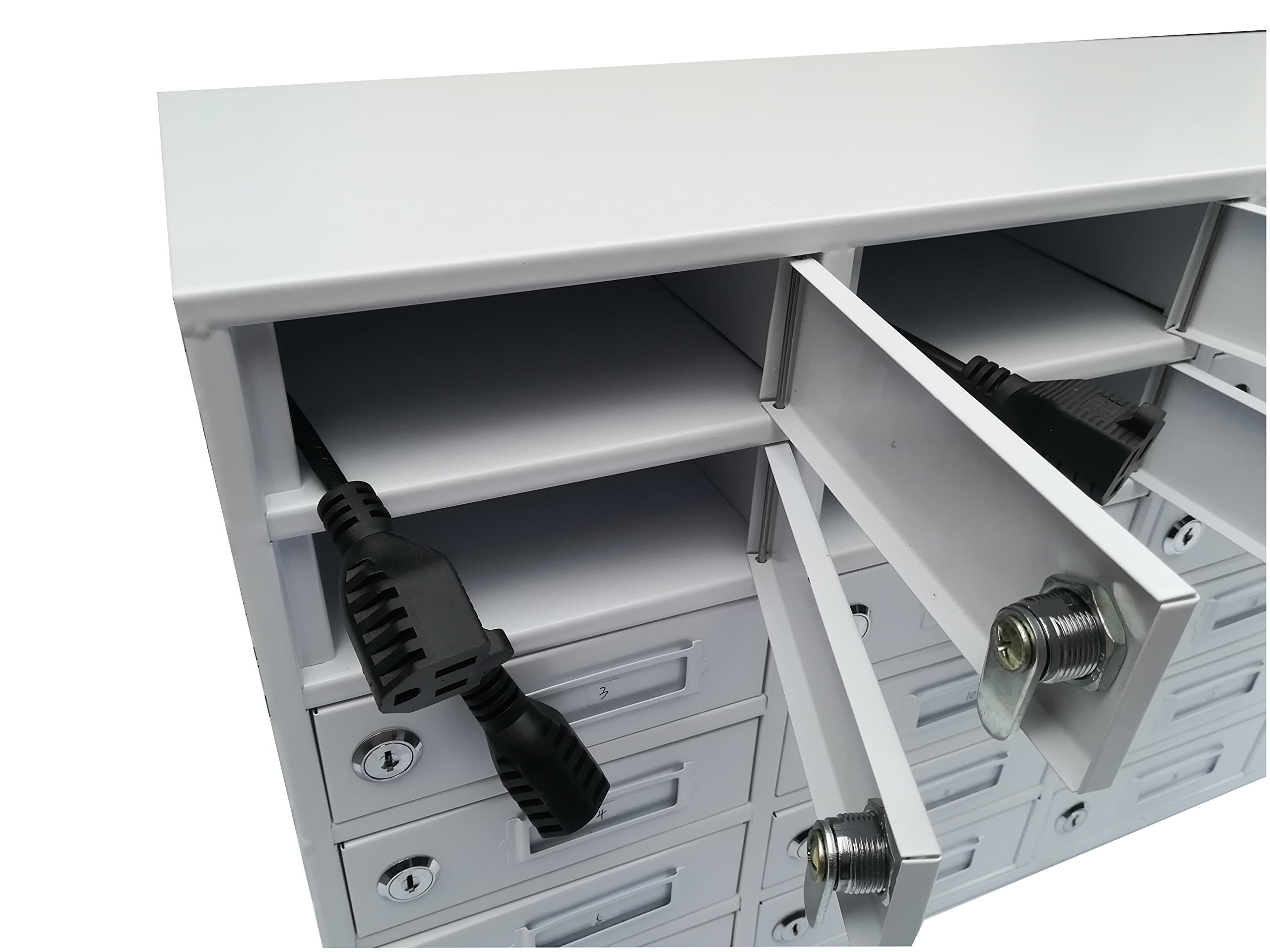 FixtureDisplays 30-Slot Cellphone iPad Mini Charging Station Locker Assignment Mail Slot Box 15252 by FixtureDisplays (Image #5)