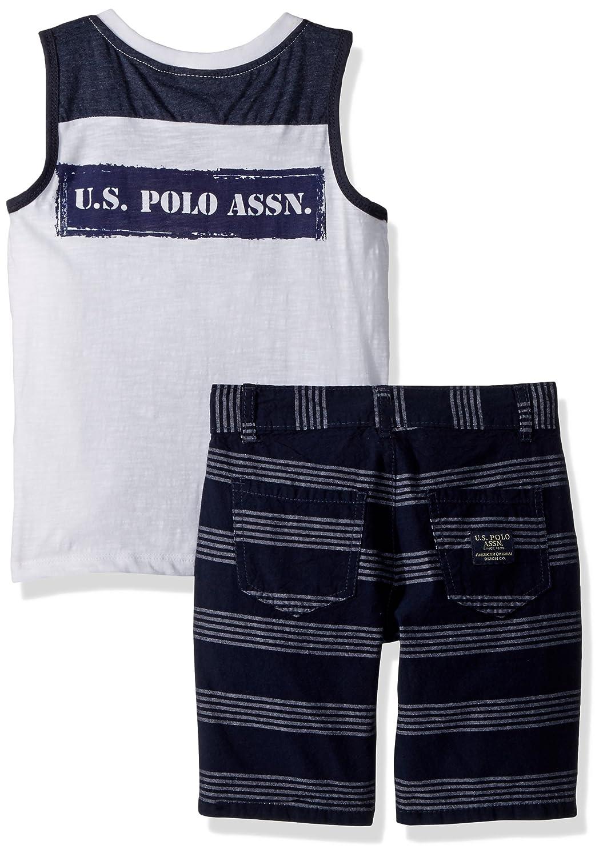 U.S Polo Assn Boys Tank and Short Set