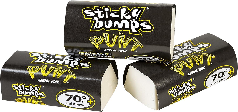 Sticky Bumps Punt Wax Bit Leiste (Pack von 3) Yellow 70F & Above