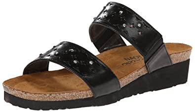 Naot Women's Susan Wedge Sandal, Black, ...