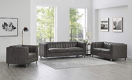 Amazon.com: Hydeline Melbourne - Juego de sofá (100% piel ...