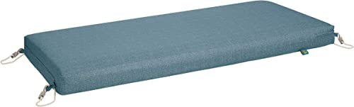 Duck Covers Weekend Water-Resistant 48 x 18 x 3 Inch Outdoor Bench Cushion, Blue Shadow