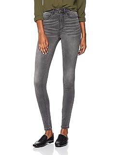 Only Damen Jeans onlROYAL REG SK DNM JEANS BJ312 Grau Skinny Fit Dark Gre