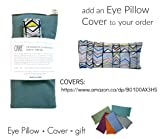 Peacegoods Cotton Eye Pillow COVER 4.5 x 9 Washable - fits our eye pillows or yours - yoga aromatherapy mediation massage - white pink aqua paisley