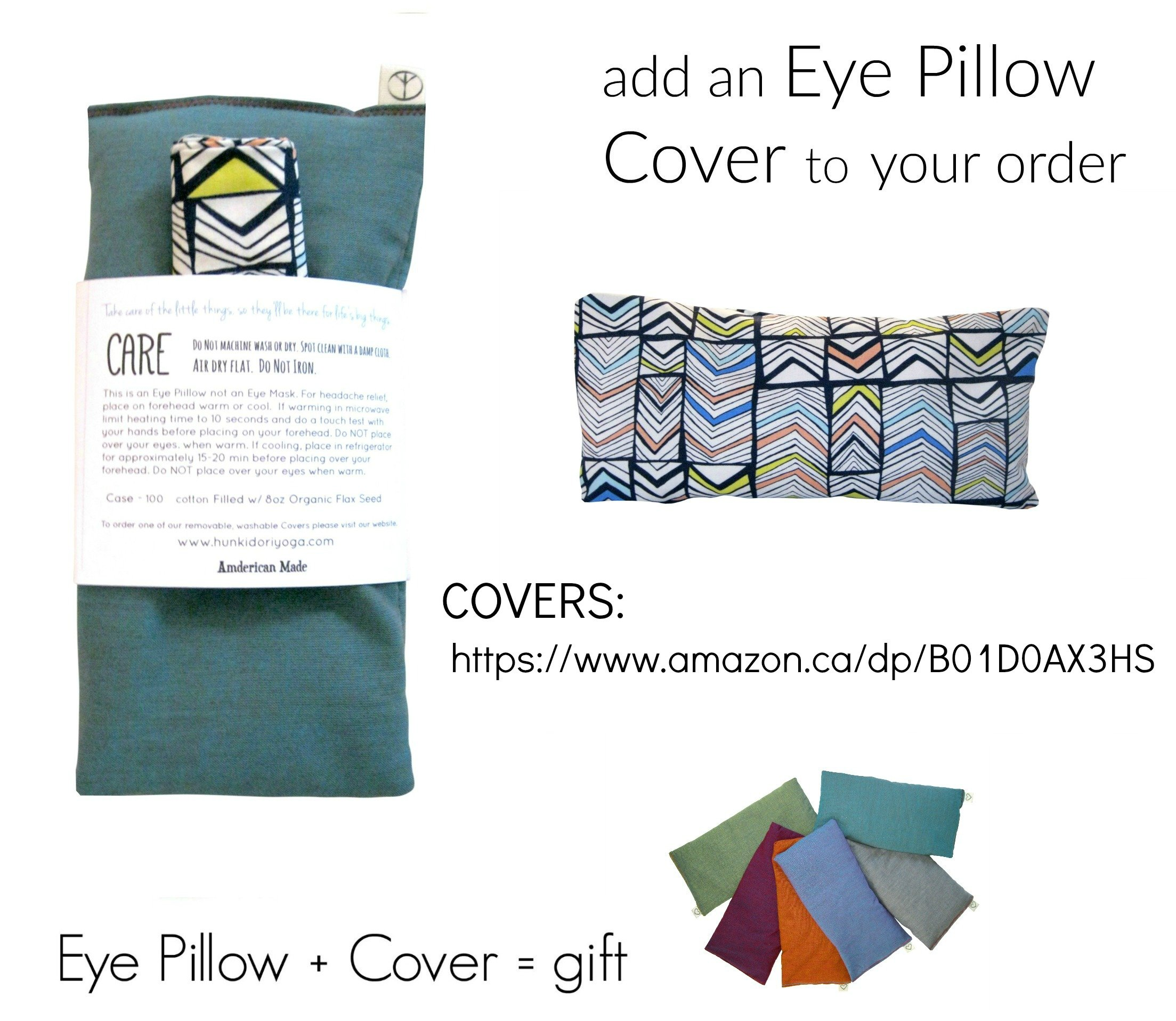 Scented Eye Pillows - Pack of (4) - Soft Cotton 4 x 8.5 - Organic Lavender Flax Seed - hand block print India - pink purple gray teal green elephant by Peacegoods (Image #8)