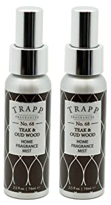Trapp Home Fragrance Mist, No. 68 Teak & Oud Wood, 2.5-Ounce (2-Pack)