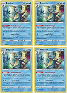 product image for Pokemon Card - Inteleon - Sword and Shield Base - x4 Card Lot Playset - 058/202 Holo Rare