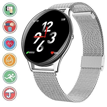 Bluetooth Smartwatch en Color de Alta definición, IP68 Sumergible Reloj Deportivo con Monitoreo de la Frecuencia Cardiaca Sincron de info Pulsera ...