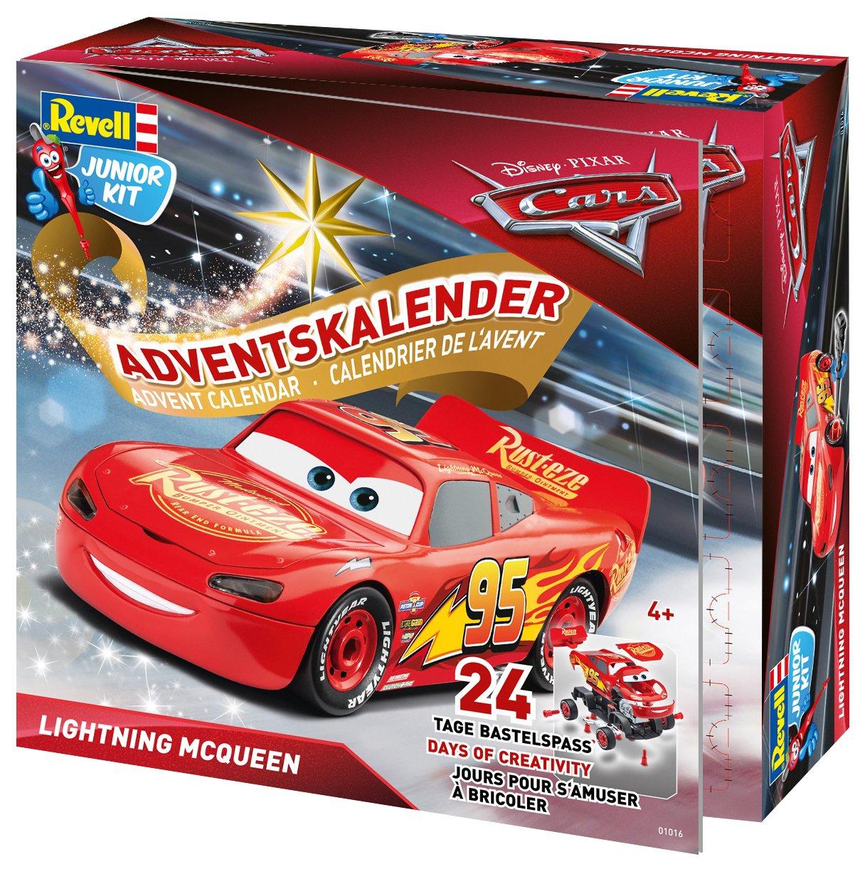 Revell GmbH 01016Lightning McQueen Junior kit Calendrier de l'Avent