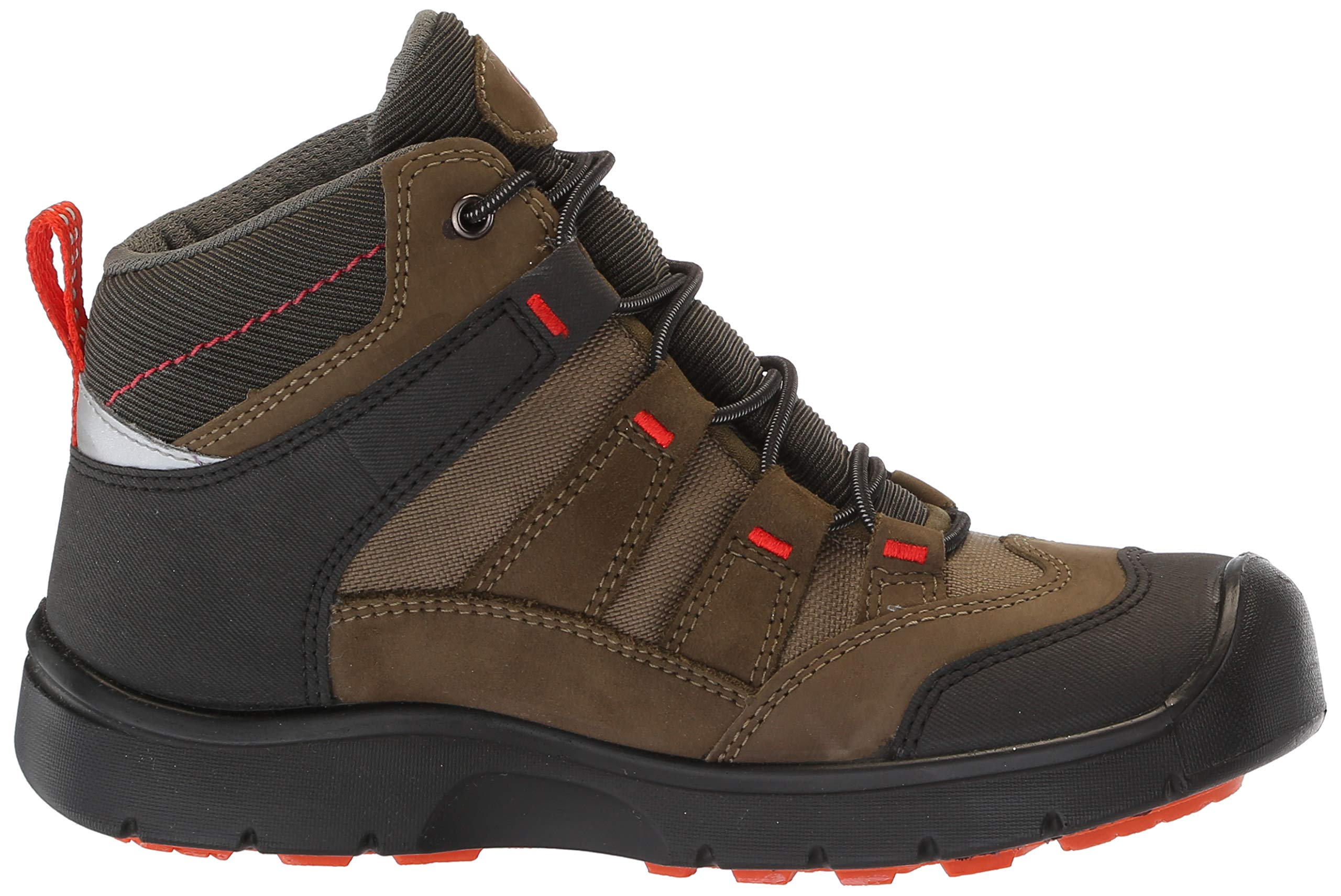 KEEN Unisex HIKEPORT MID WP Hiking Boot, Martini Olive/pureed Pumpkin, 12 M US Little Kid by KEEN (Image #7)