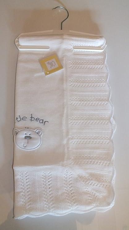 Manta blanco café con diseño de bebé colcha de punto bautismo - y robustos con diseño