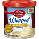 Betty Crocker Whipped Frosting, Butter Cream, 12 oz Canister