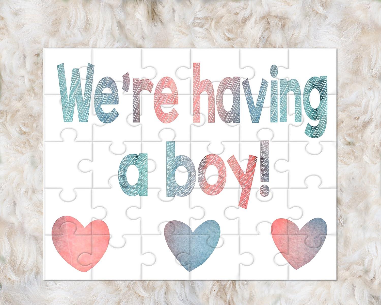 Gender Reveal Announcement Puzzle Were having a boy!