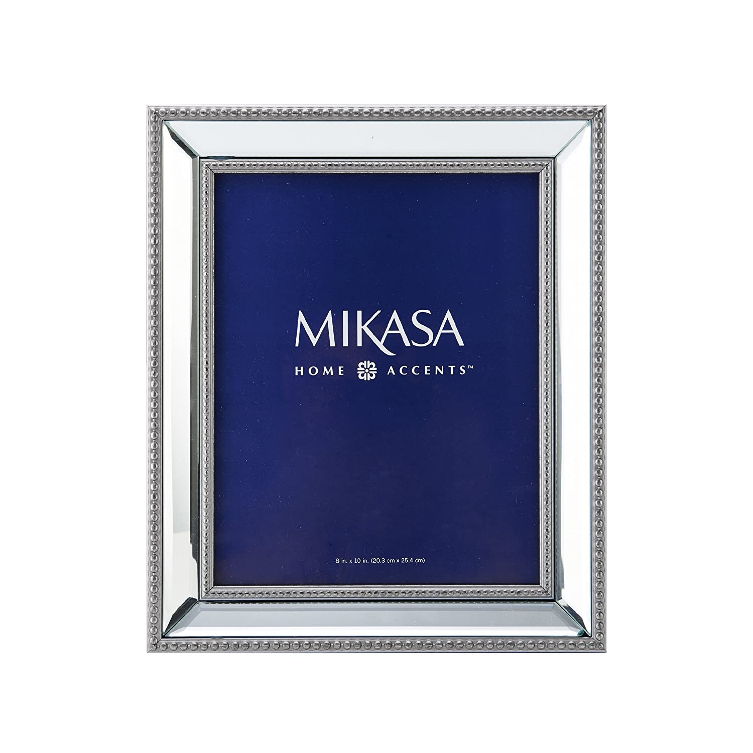 Amazon mikasa beaded mirror picture frame 8 by 10 inch jeuxipadfo Choice Image