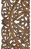 Artesia Elegant Wood Carved Decorative Wall Art Home Décor Plaque