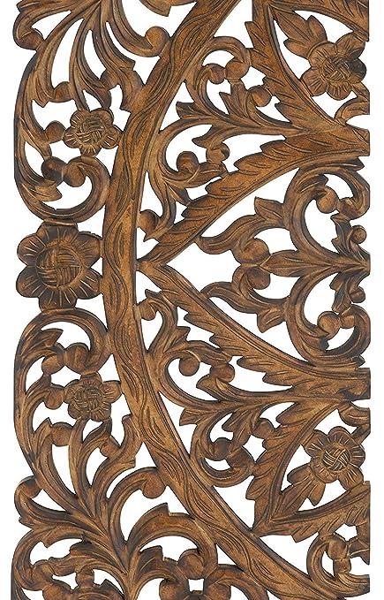 Buy Artesia Elegant Wood Carved Decorative Wall Art Home Décor ...