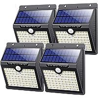 Kilponen Luz Solar Exterior,【4 Paquete - 180 °Iluminación 】Foco Solar Exterior con Sensor de Movimiento y 3 Modos…