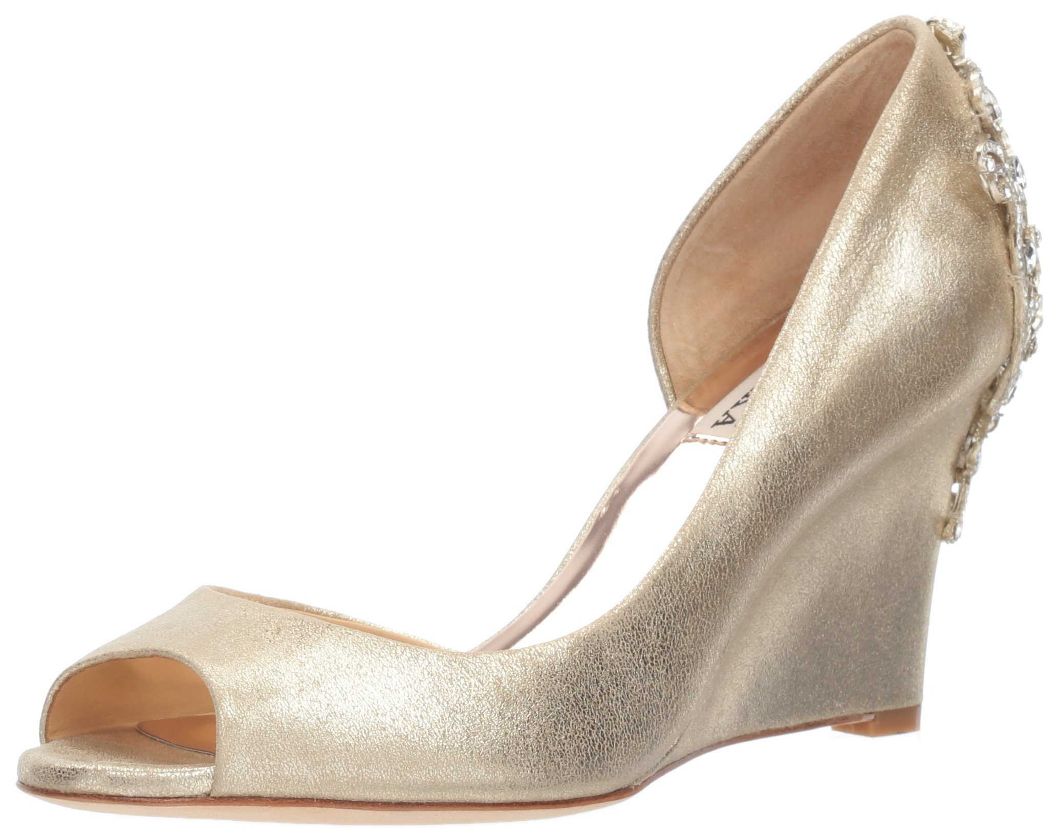 Badgley Mischka Women's Meagan II Pump, platino_929, 7 M US by Badgley Mischka (Image #1)