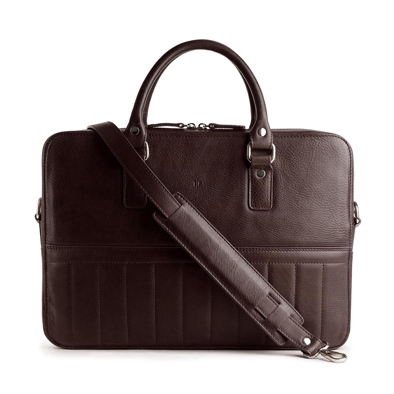 アーバンレザーバッグ-無料ミニマリストレザーウォレットが含まれて-イタリアの革2つのノートパソコンのタブレットブリーフケースとメッセンジャーバッグ B07F2H9D3Z Torino