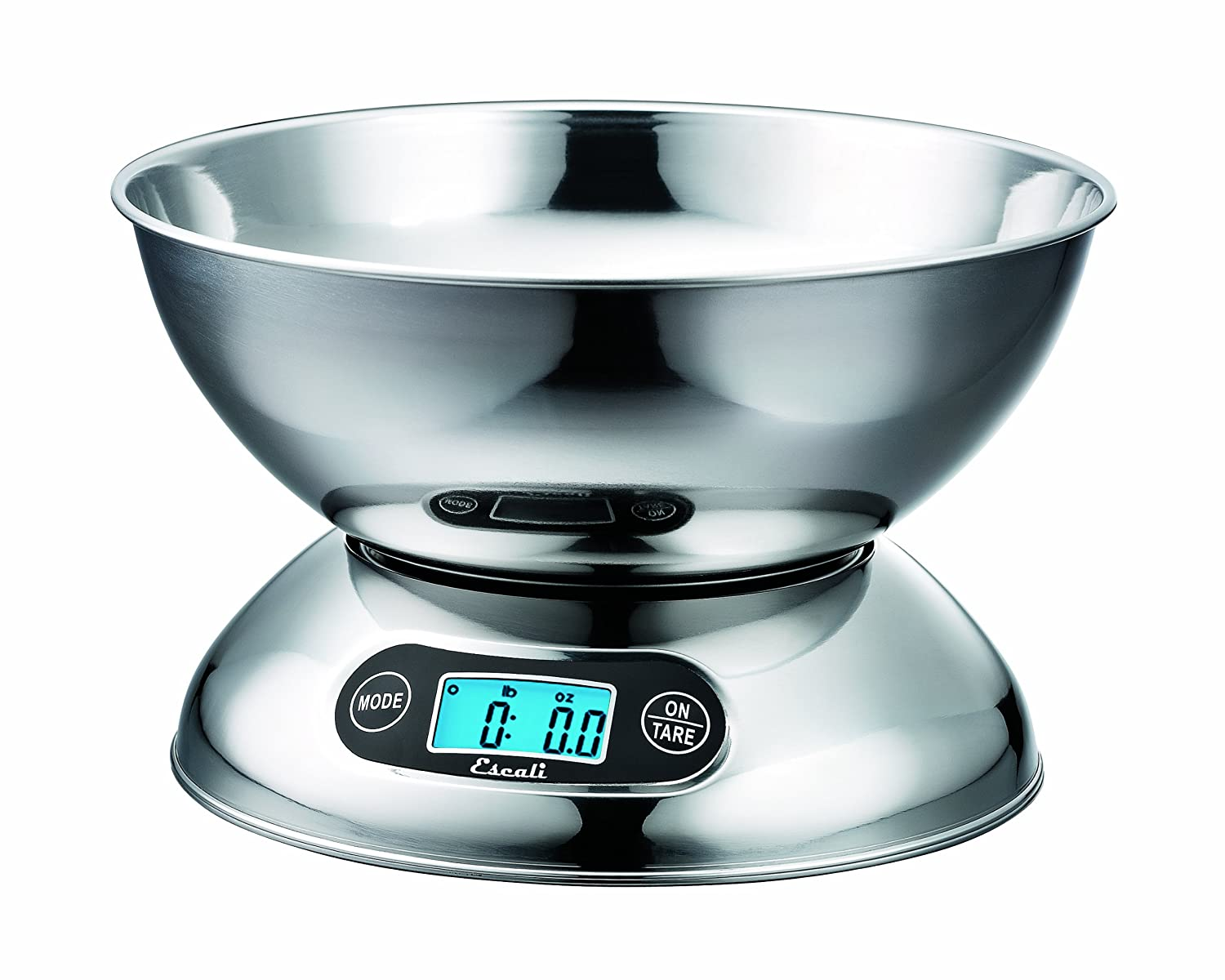Amazon.com: Escali R115 Rondo Digital Bowl Scale 2 Quart Stainless Steel,  11 Lb/5 Kg: Digital Kitchen Scales: Kitchen U0026 Dining
