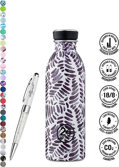 Contenuto:500 ml Colore:steel 500 ml 1000 ml colori diversi 24bottles 24 Bottles Bottiglia di acqua Urban 250 ml