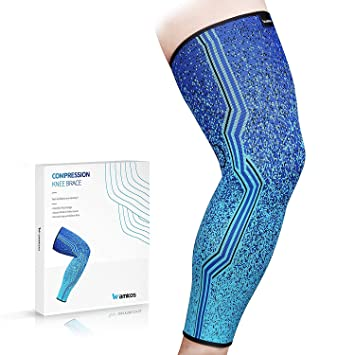 02c44042d3 Wamkos Knee Brace for Men and Women | Knee Compression Sleeves for Meniscus  Tears and Joint