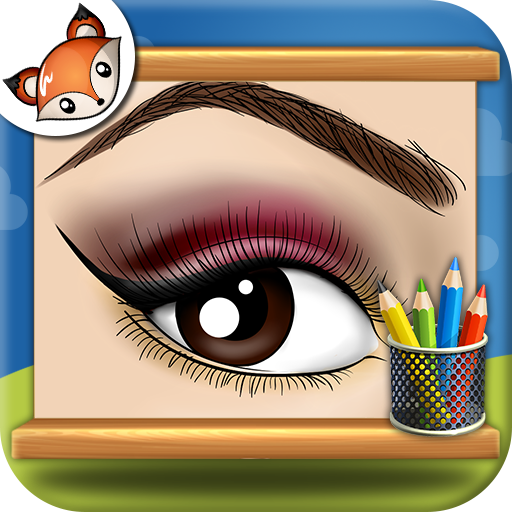 Halloween Eye Makeup Tutorial (How to Draw Makeup step by step Drawing)