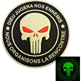 9037eaf00ffc Punisher DIEU JUGERA NOS ENNEMIS Glow Dark Marine Navy Seals DEVGRU PVC 3D  Attache-boucle