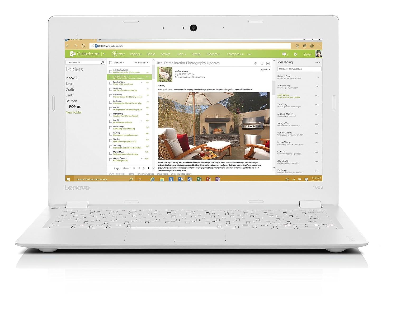 Lenovo Ideapad 100s 116 Inch Hd Laptop White Intel Atom Z3735 Ha2403gtnf 3 Watt 24 Ghz Outdoor 80211b G N Wifi Amplifier 2 Gb Ram 32 Hdd Graphics Windows 10 Computers