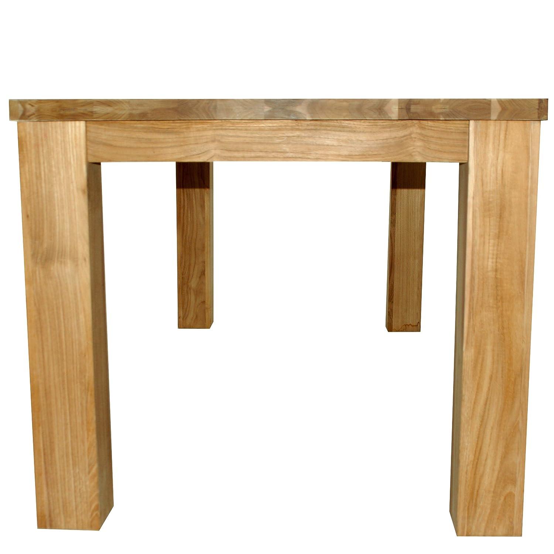 Divero Esstisch Esszimmertisch Massivholz-Tisch aus echtem Teak-Holz ...