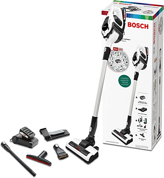 Bosch BBS1224 Unlimited Serie | 8 Aspirador sin cable, incluye 2 ...